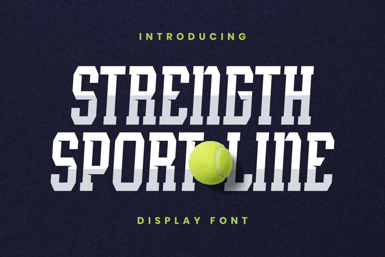 StrengthSportLine Font example image 1