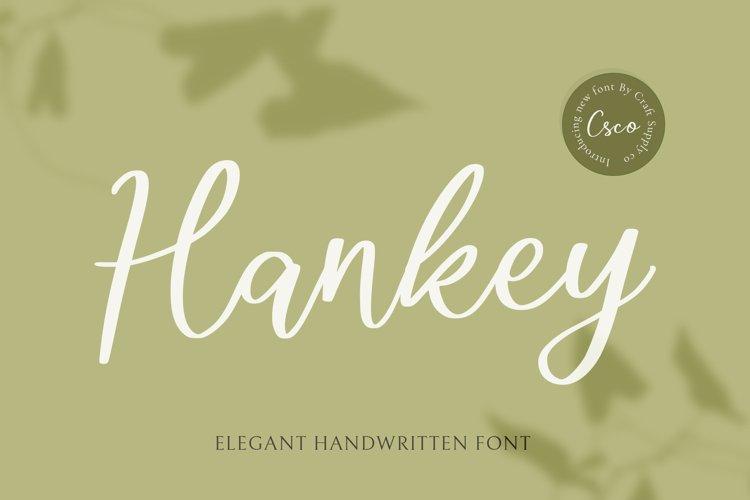 Hankey - Elegant Handwritten Font