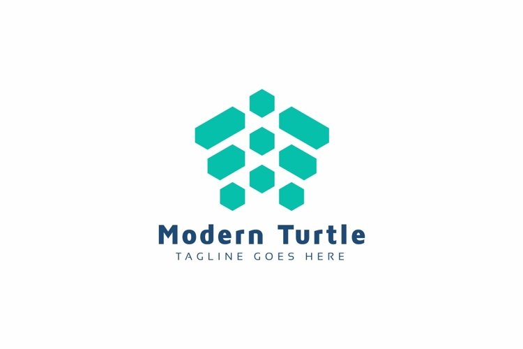 Modern Turtle Logo