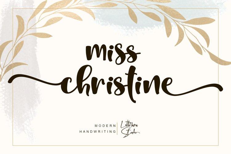 Miss Christine example image 1