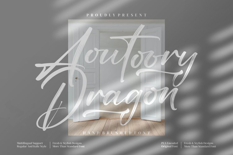 Aoutoory Dragon _ Brush Font example image 1