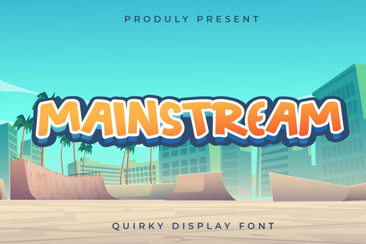 Mainstream - Quirky Display Font example image 1