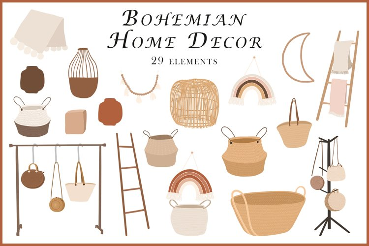 Abstract Bohemian Home Decor clipart example image 1