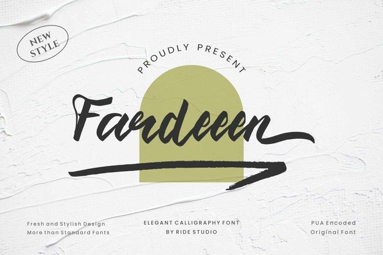 Fardeeen - Natural handbrush font example image 1