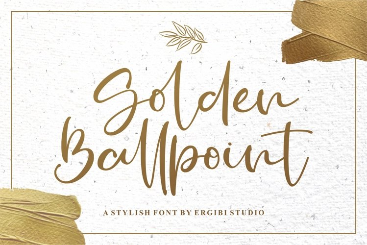 Golden Ballpoint   A STYLISH FONT example image 1