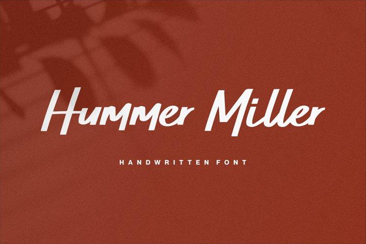 Web Font - Hummer Miller example image 1