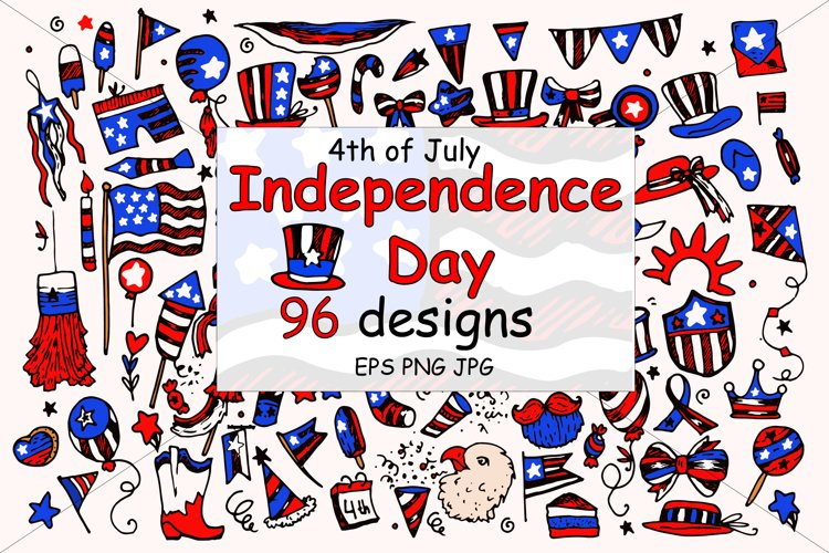 4th of July Clipart. USA Patriotic Vector Graphics.