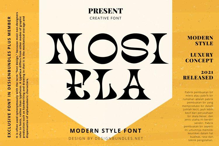 NOSIELA Font example image 1