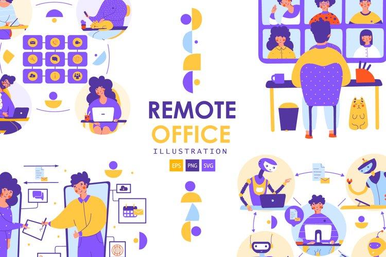Remote Office - illustration