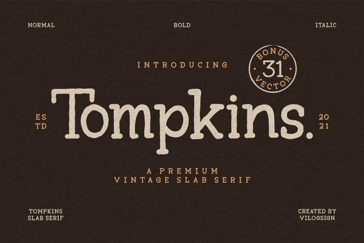 Tompkins a Vintage Slab Serif Font example image 1