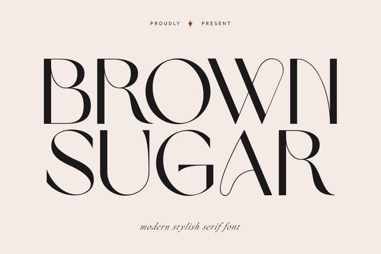 Brown Sugar   Modern Stylish example image 1