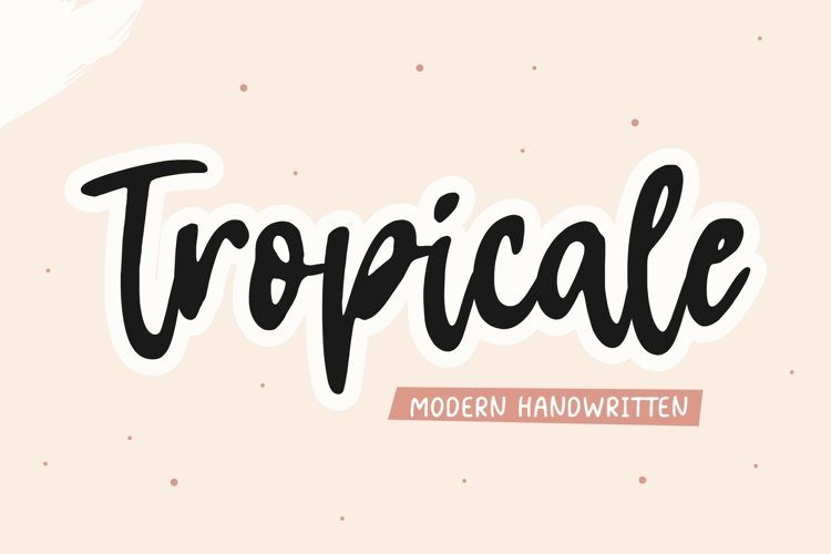 Tropicale Modern Handwritten Font example image 1