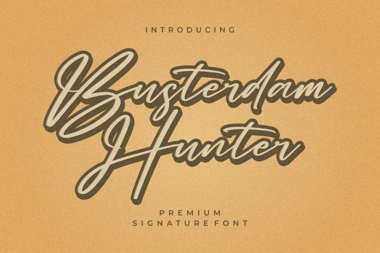 Busterdam Hunter- Signature Font example image 1