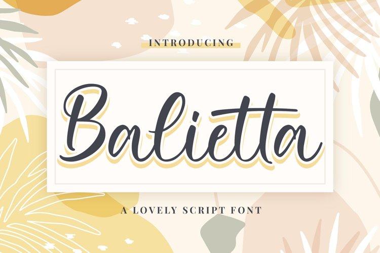 Balietta example image 1