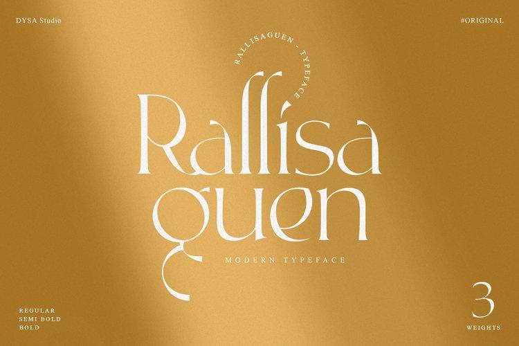 Rallisaguen - Modern Serif Typeface example image 1