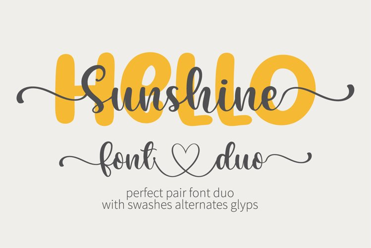 Hello Sunshine - A perfect pair font duo example image 1