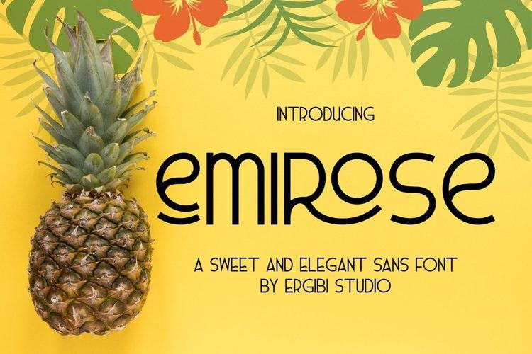 Emirose  Sweet&ElegantFont  example image 1