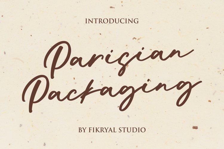 Parisian Packaging - Handwritten Font example image 1