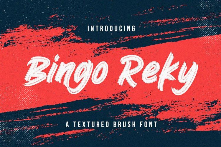 Bingo Reky - Textured Brush Font example image 1