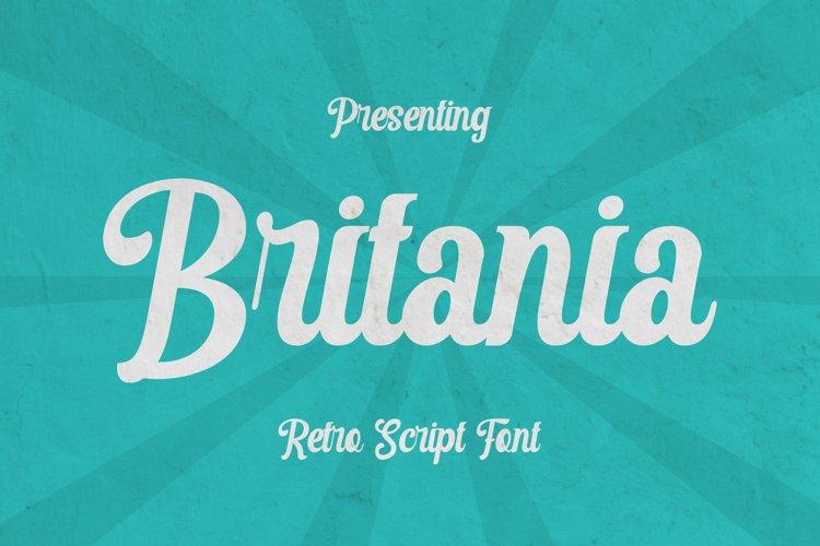 Britania Font example image 1