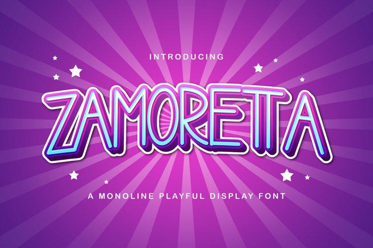 Zamoretta - Playful Display Font example image 1