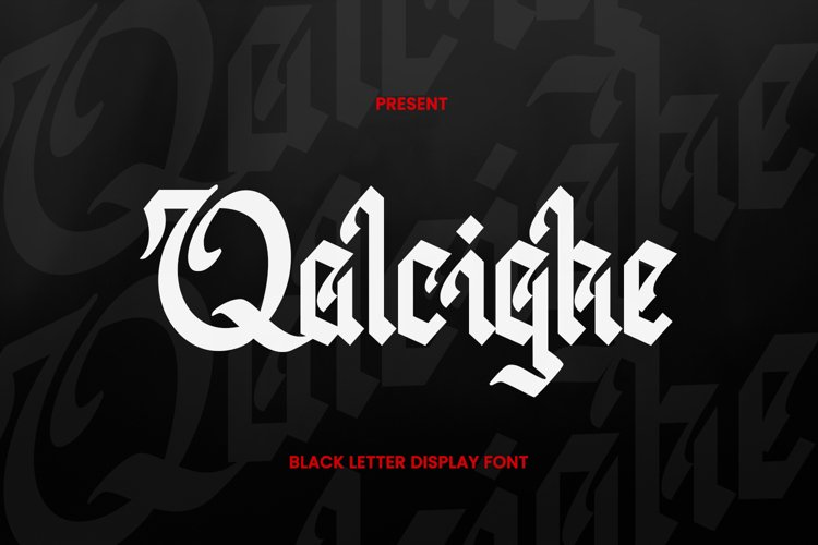 Qalcighe Font example image 1