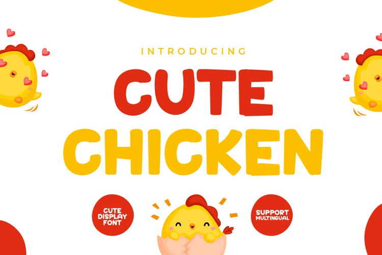 Cute Chicken - Cute Display Font example image 1