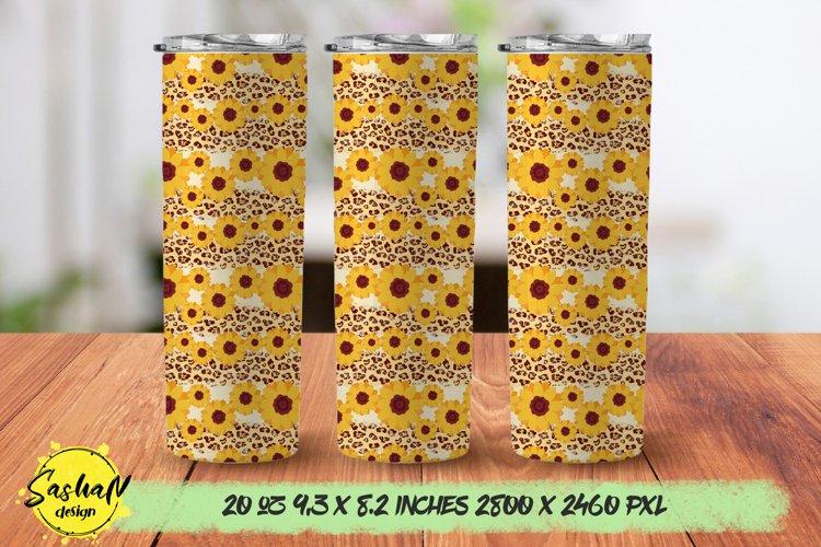 20oz skinny tumbler sunflower png