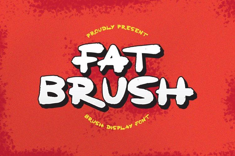 FatBrush Font example image 1