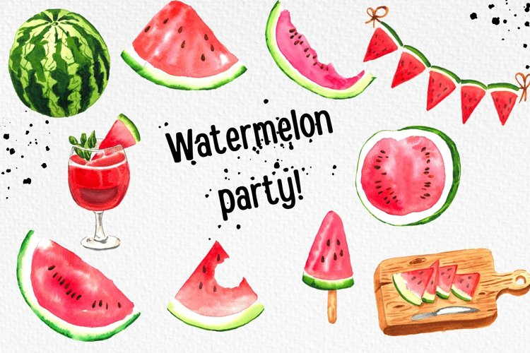 Watermelon Party, Summer Clipart, Popsicle Clipart