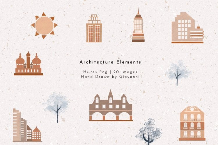 20 Architecture PNGs, Fine art, Hand Drawn by Giovanni 2021