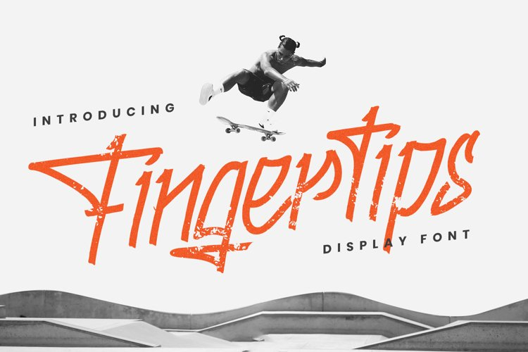 Fingertips - A Graffiti Font example image 1
