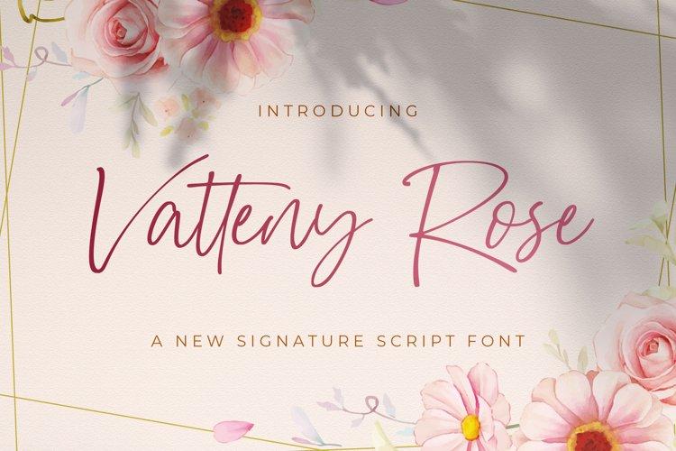 Vatteny Rose - Signature Script Font example image 1