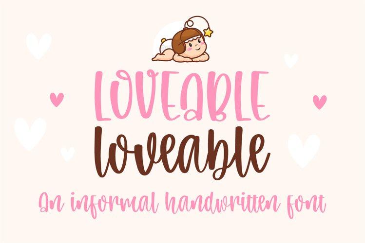 Loveable-An informal handwritten font example image 1