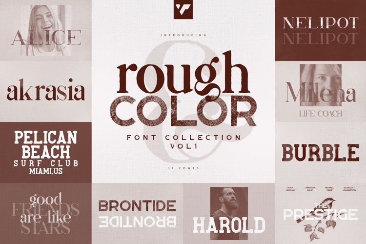 Rough and Color font Collection vol1
