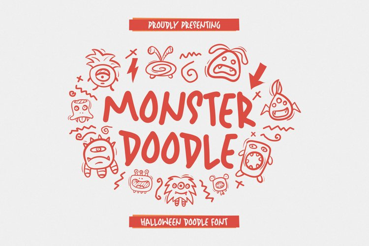 MonsterDoodle Font example image 1