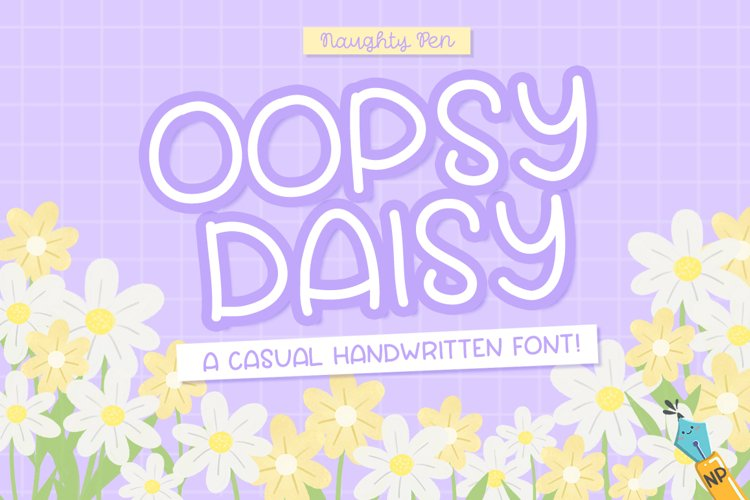 Oopsy Daisy Casual Handwritten Font example image 1