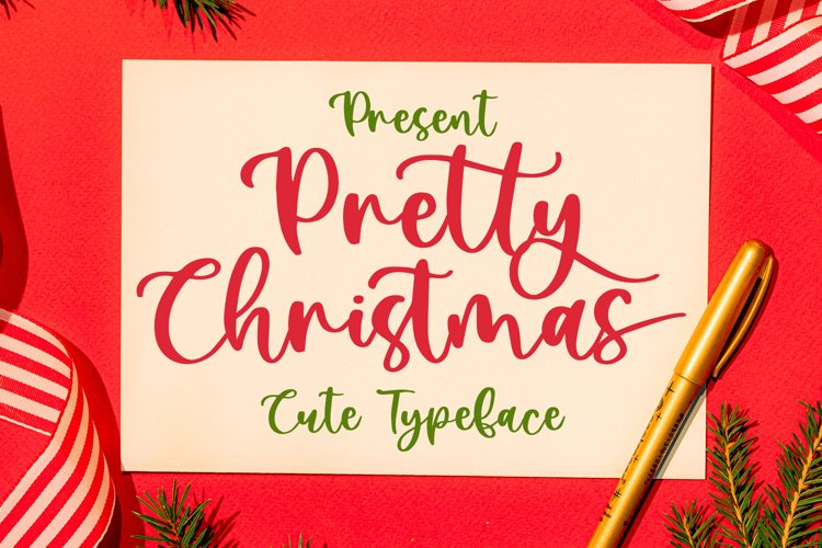Pretty Christmas - Cute Typeface Font example image 1