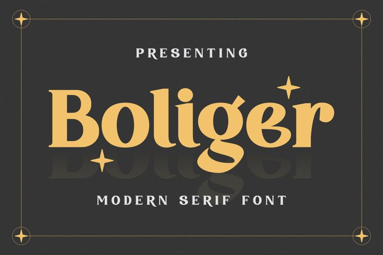 Boliger Font example image 1