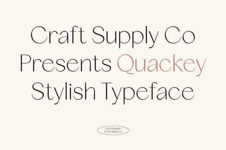 Quackey - Stylish Typeface example image 1