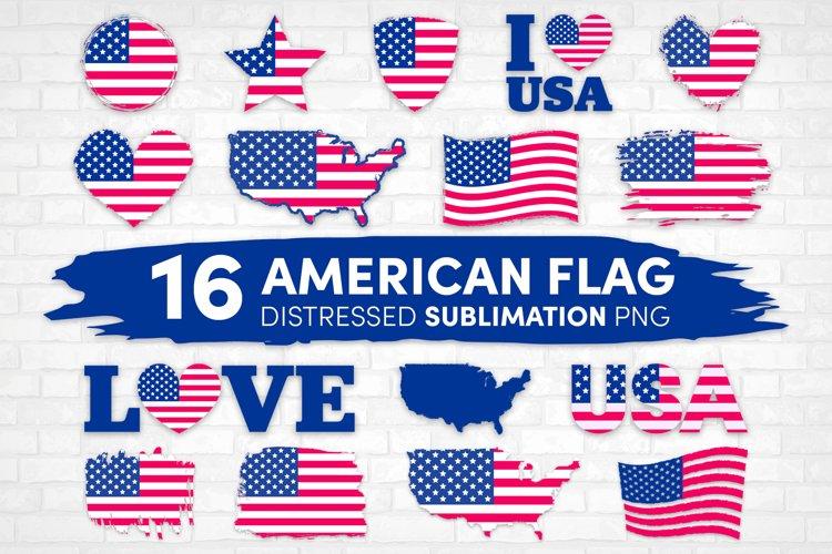 American Flag Sublimation bundle, USA flag Distressed Design
