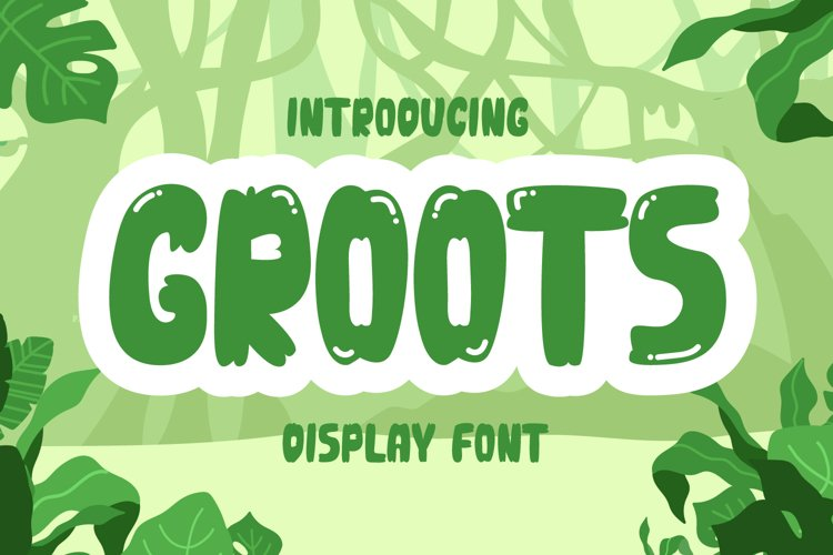 Groots - Quirky Display Font example image 1
