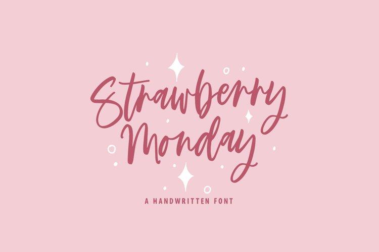 Strawberry Monday font