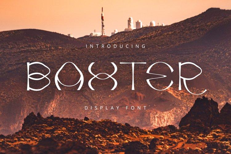 Baxter Font example image 1