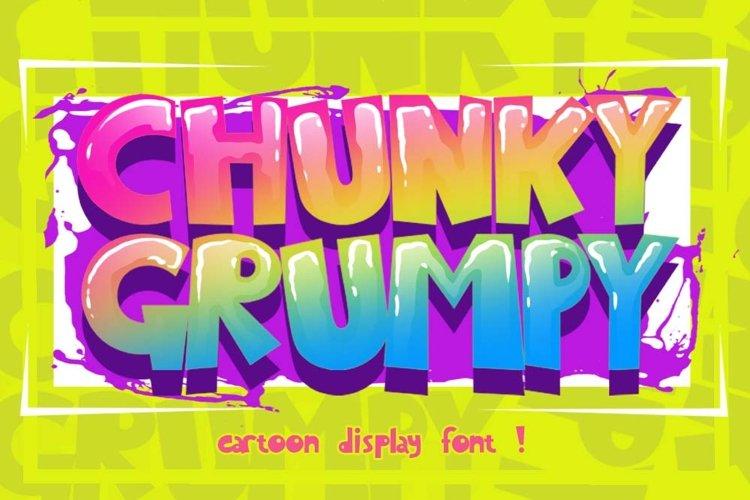 CHUNKY GRUMPY cartoon display font example image 1