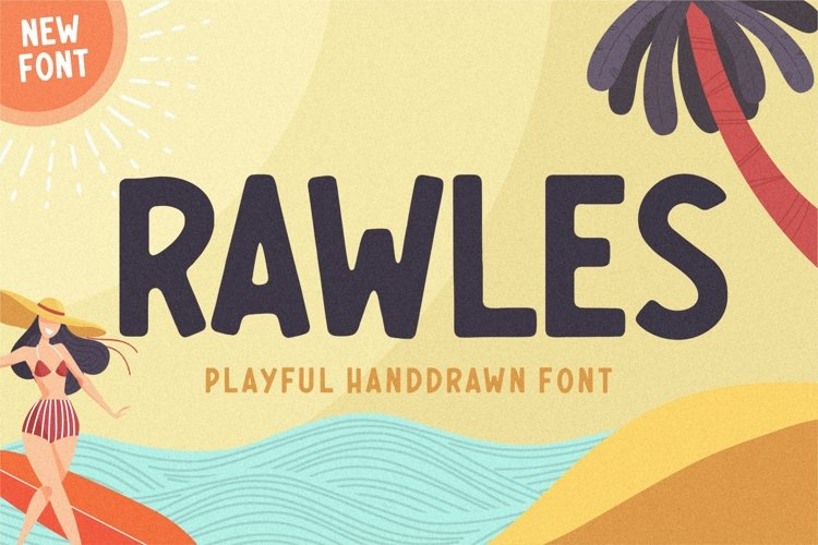 RAWLES Playful Handdrawn Font example image 1