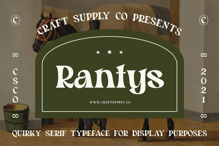Rantys - Quirky Serif example image 1