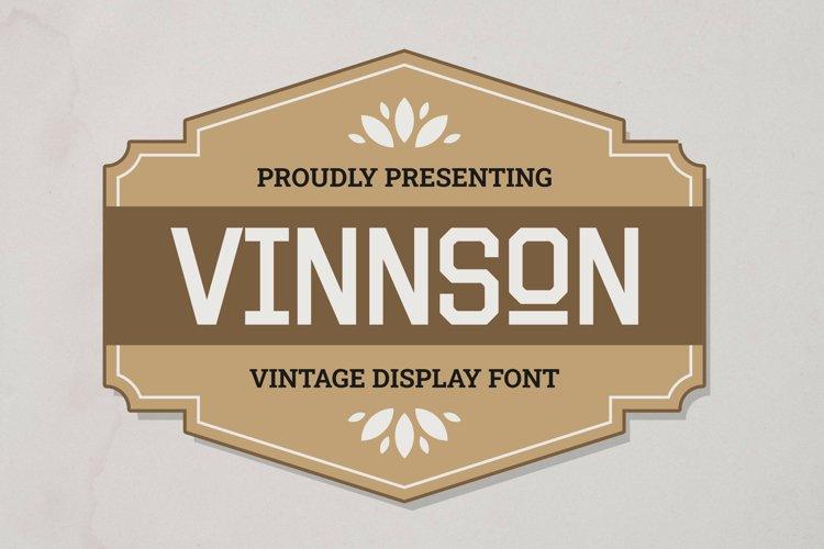 Vinnson Font example image 1
