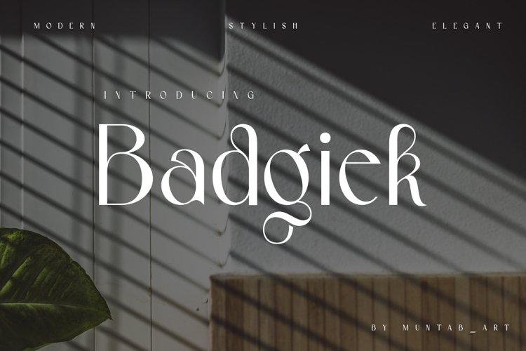 Badgiek   Modern Stylish example image 1