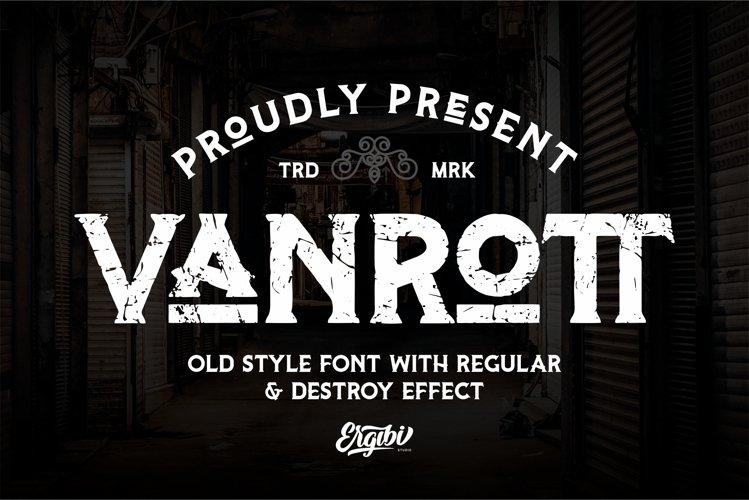 Vanrott - Old Style Font example image 1